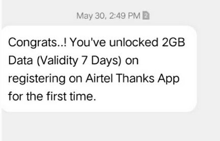 2GB airtel free data