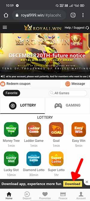 Royal Win App Download