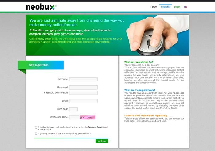 neobux signup