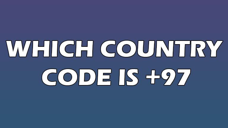 which country code is 97