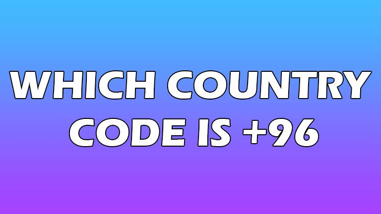which country code is 96
